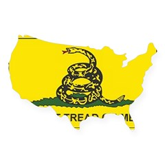 Gadsden Flag Rectangle USA Sticker