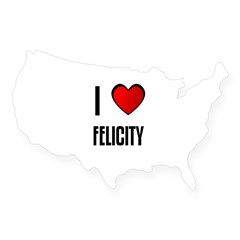 I LOVE FELICITY Rectangle USA Sticker