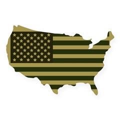 American Flag Sticker (Drab) USA Sticker