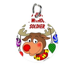 Military - Army Christmas Round Pet Tag