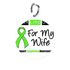 IWearLimeGreen (Wife) Round Pet Tag