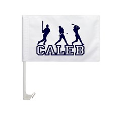 Baseball Caleb Personalized Car Flag