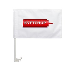 Kvetchup Car Flag