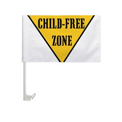 Child-Free Zone Car Flag