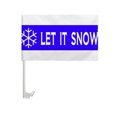 Think Snow Car Flag