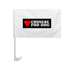 CHINESE FOO DOG Car Flag
