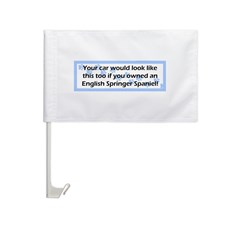 Your Car English Springer Spaniel Car Flag