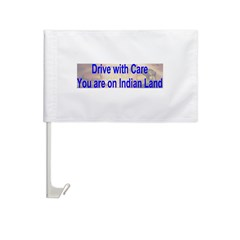 Native American-BS Car Flag