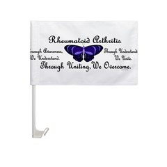Butterfly Awareness 1 (Rheumatoid Arthritis) Car Flag