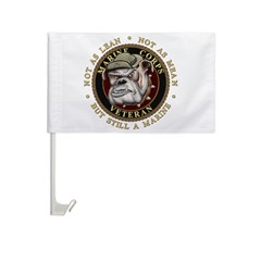 Devil Dog Vet Car Flag