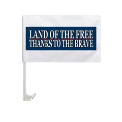 Patriotic - American Veteran Car Flag