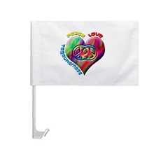 Peace Love Togetherness Car Flag