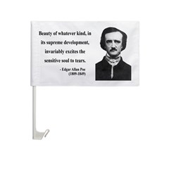 Edgar Allan Poe 11 Car Flag