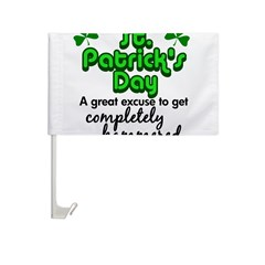 St. Patrick's Day Car Flag