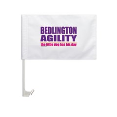 Bedlington Terrier Agility Car Flag