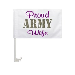 Army Purple Home/Office Car Flag