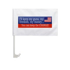 Keep the Change Car Flag