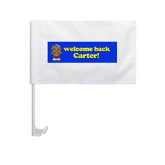 Welcome Back Carter Car Flag