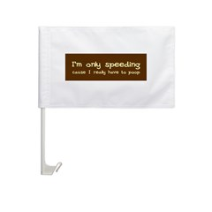 Speeding Funny Car Flag