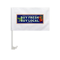 Buy Fresh Buy Local classic Car Flag