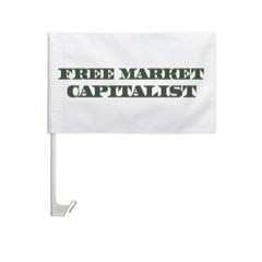 Free Market Capitalist Car Flag