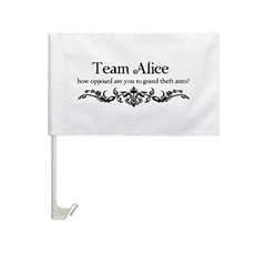 Team Alice Theft Car Flag
