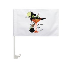 Halloween Martini Girl Car Flag