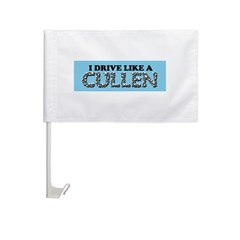 drive like a cullen remix Car Flag