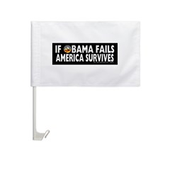 Anti-Obama Obama Fails America Survives Car Flag