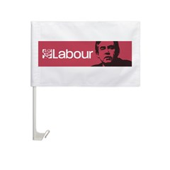 Gordon Brown Labour Party Car Flag
