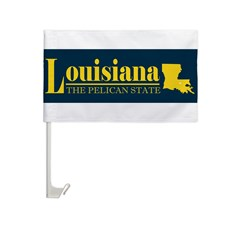 Louisiana Gold Car Flag
