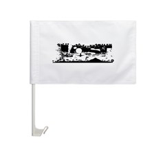 Lost Island White Car Flag