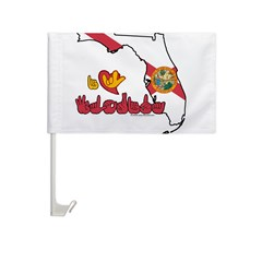 ILY Florida Car Flag