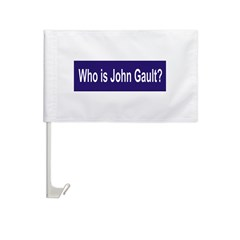 Who is John Gault? Car Flag