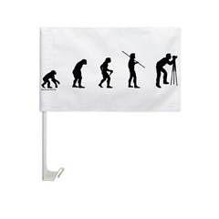 Photog Evolution Car Flag