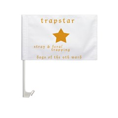 Trapstar: stray and feral tra Car Flag