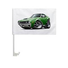 1970 AMX Green Car Car Flag