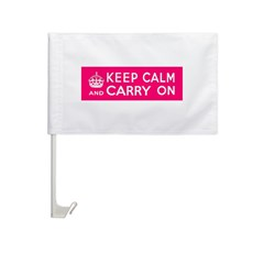 CZARINA PINK Car Flag