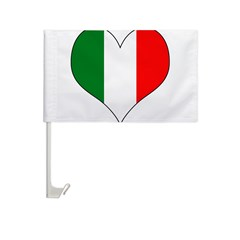 Italy Heart Car Flag