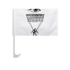 I Parachute Skydiver Car Flag