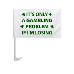 Gambling Problem Car Flag