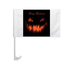 Happy Halloween Pumpkin Car Flag