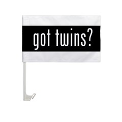 got twins? Car Flag