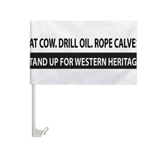 Bumper Sticker - Western Heritage Car Flag