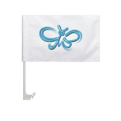 Neon Butterfly Car Flag