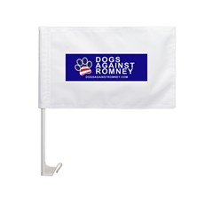 Official Dogs Against Romney Paw Car Flag