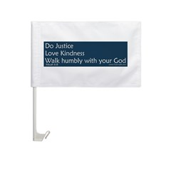 Bumper Sticker - Micah 6:8 Car Flag
