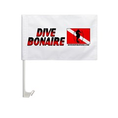 Dive Bonaire (red) Car Flag