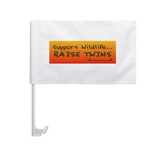 Support Wildlife - Raise Twin Car Flag