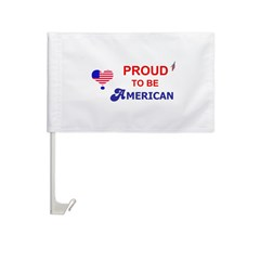 PROUD TO BE AMERICAN Car Flag